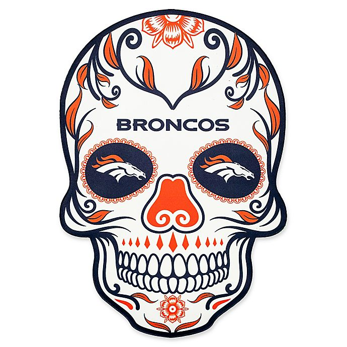 89b68b77 NFL Denver Broncos Outdoor Dia De Los Muertos Skull Decal | Bed Bath ...