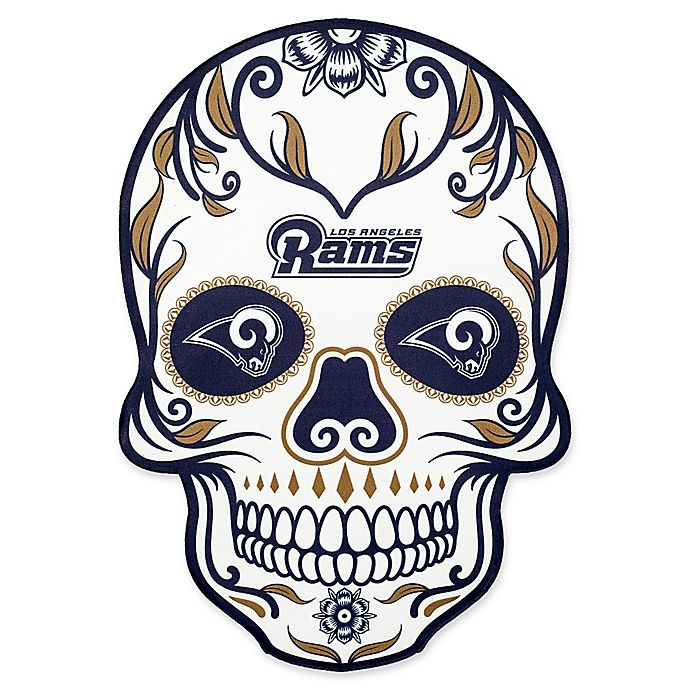 1bd72914 NFL Los Angeles Rams Outdoor Dia De Los Muertos Skull Decal | Bed ...
