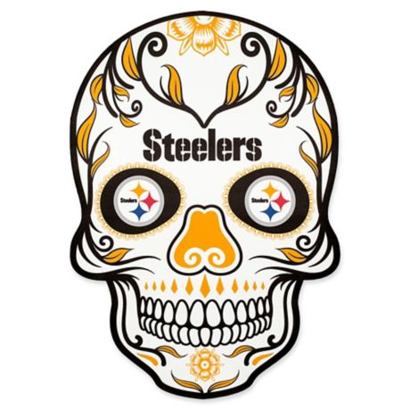 Nfl Pittsburgh Steelers Outdoor Dia De Los Muertos Skull