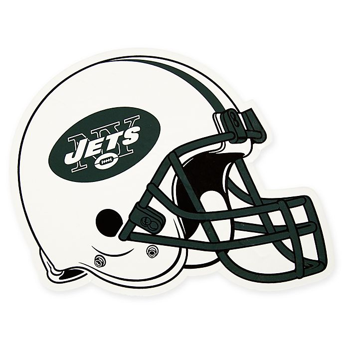 Alternate image 1 for NFL New York Jets Outdoor Helmet Graphic Decal
