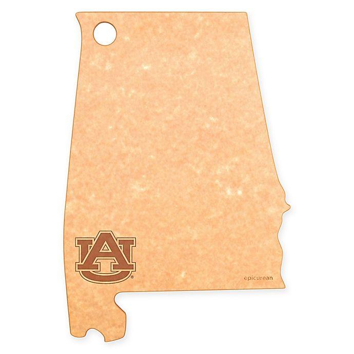 Alternate image 1 for Auburn University Epicurean® State Shaped Logo Cutting Board