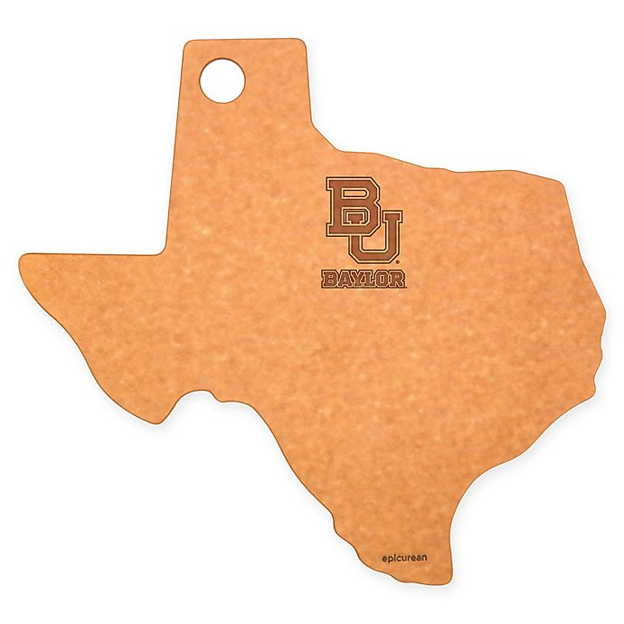 Alternate image 1 for Baylor University Epicurean® State Shaped Logo Cutting Board