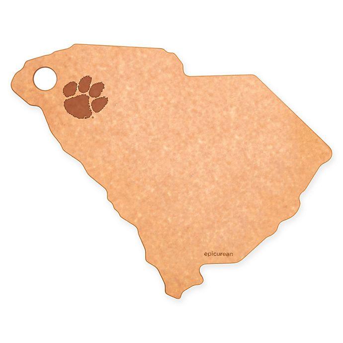Alternate image 1 for Clemson University Epicurean® State Shaped Logo Cutting Board