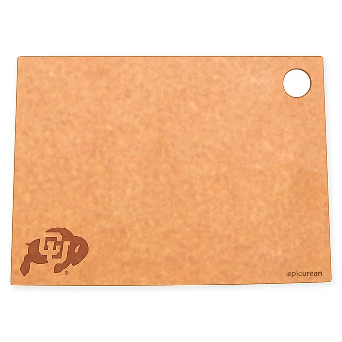Alternate image 1 for University of Colorado Epicurean® State Shaped Logo Cutting Board