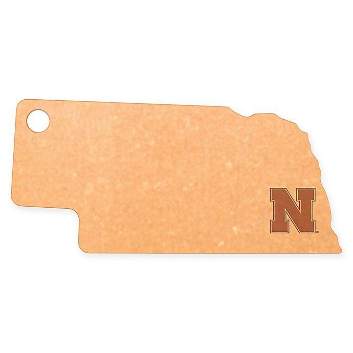 Alternate image 1 for University of Nebraska Epicurean® State Shaped Logo Cutting Board