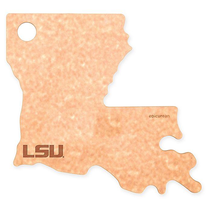 Alternate image 1 for Louisiana State University Epicurean® State Shaped Logo Cutting Board
