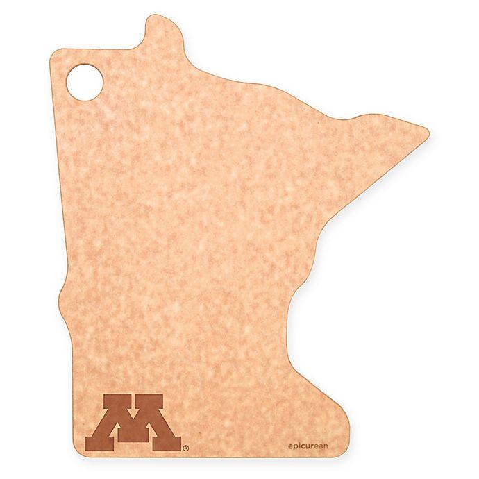 Alternate image 1 for University of Minnesota Epicurean® State Shaped Logo Cutting Board