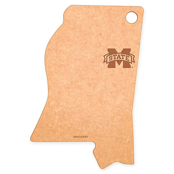 Alternate image 1 for Mississippi State University Epicurean® State Shaped Logo Cutting Board