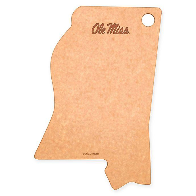 Alternate image 1 for University of Mississippi Epicurean® State Shaped Logo Cutting Board
