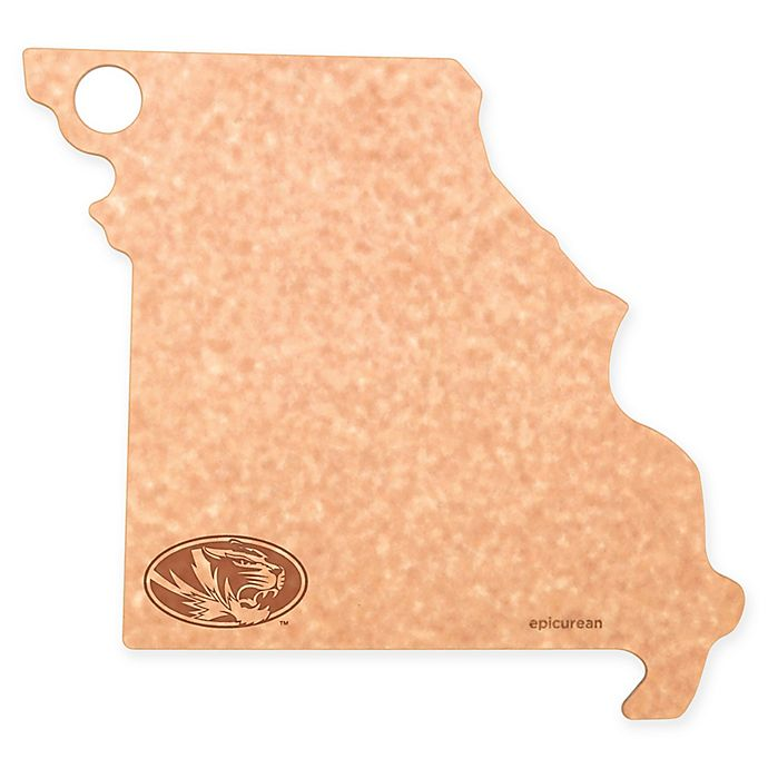 Alternate image 1 for University of Missouri Epicurean® State Shaped Logo Cutting Board