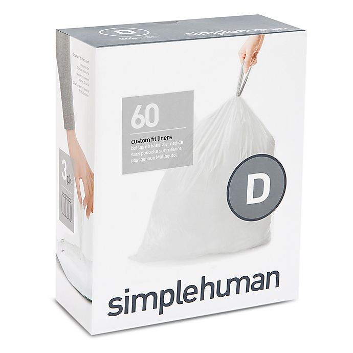 Alternate image 1 for simplehuman® Code D 60-Pack 20-Liter Custom Fit Liners