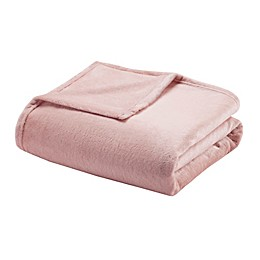 Madison Park Microlight Blanket in Blush