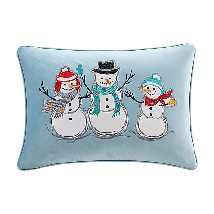 Madison Park Winter Snow Buddies Oblong Throw Pillow In