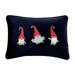 Madison Park Holiday Gnome Party Oblong Throw Pillow in Navy