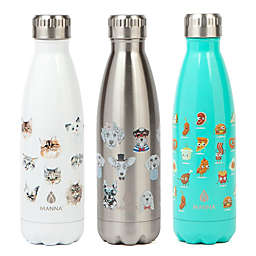 Manna™ Vogue® 17 oz. Double Wall Stainless Water Bottle Collection