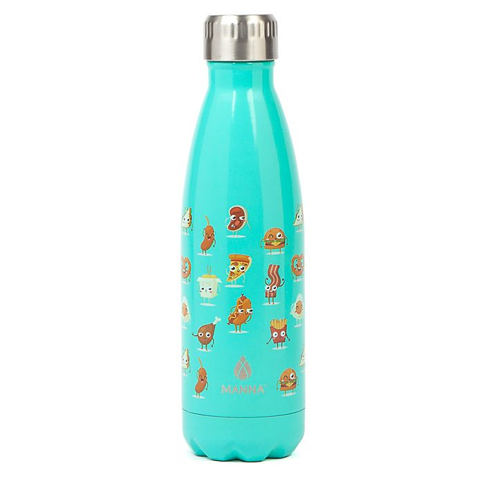 Alternate image 1 for Manna™ Vogue® 17 oz. Double Wall Stainless Water Bottle in Food