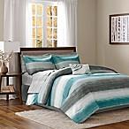 Madison Park Essentials Saben 9-Piece Queen Comforter Set in Aqua