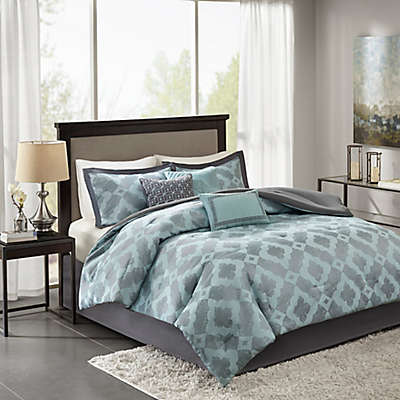 Madison Park Beckett Comforter Set in Aqua