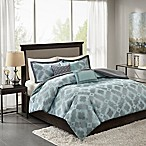 Madison Park Beckett King/California King Duvet Cover Set in Aqua