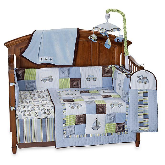 Kids Line Mosaic Transport 6 Piece Crib Bedding And