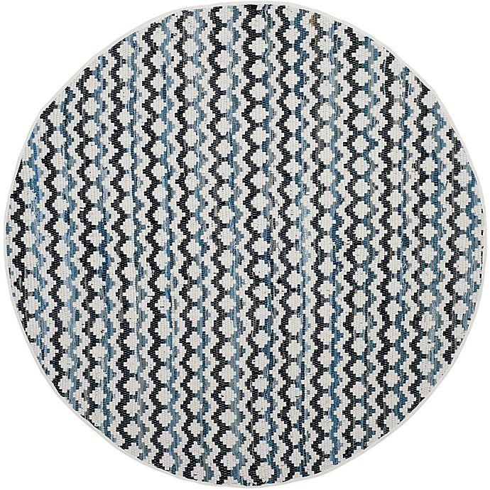 Alternate image 1 for Safavieh Montauk 4' x 4' River Rug in Ivory Blue