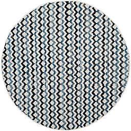 Safavieh Montauk 6' x 6' River Rug in Ivory Blue