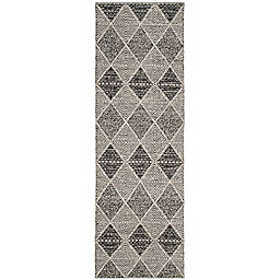 "Safavieh Montauk 2'3"" x 9' Foster Rug in Black"