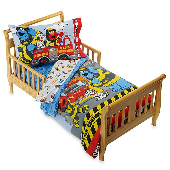 Sesame Street Fire Department 4-Piece Toddler Bedding Set ...