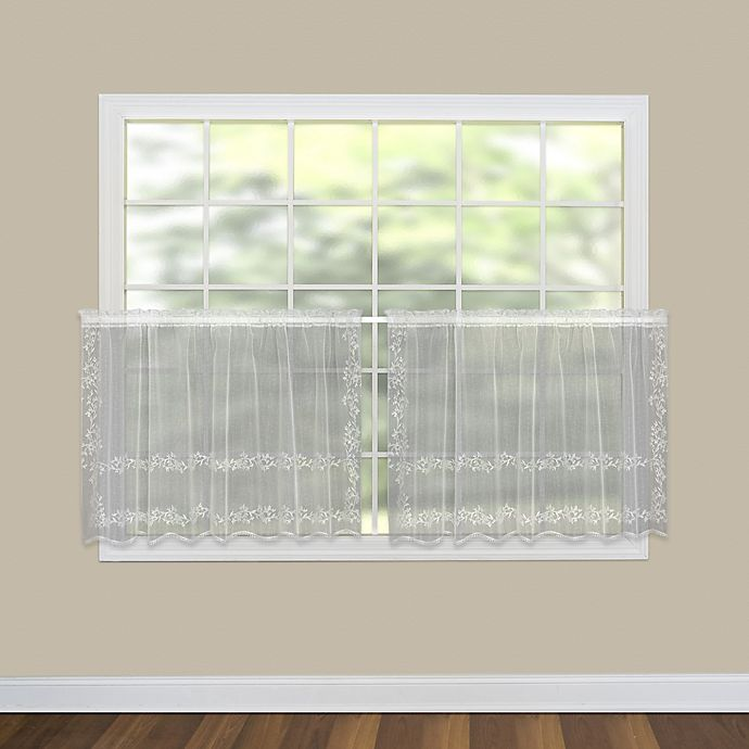 Alternate image 1 for Heritage Lace® Sheer Divine 30-Inch Kitchen Curtain Tier in White