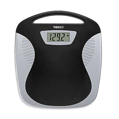 Conair® Thinner® Portable Digital Bathroom Scale in Black/Silver