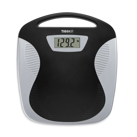 Conair 174 Thinner 174 Portable Digital Bathroom Scale In Black
