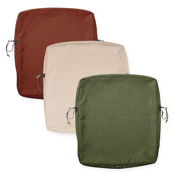 Alternate image 1 for Classic Accessories® Montlake™ 23-Inch Dining Back Cushion Slipcover