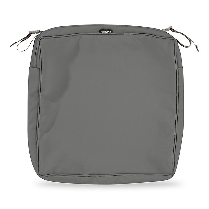 Alternate image 1 for Classic Accessories® Montlake™ FadeSafe 19-Inch Dining Seat Cushion Slip Cover in Charcoal