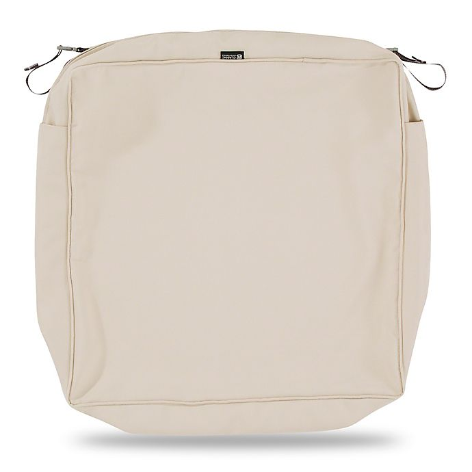 Alternate image 1 for Classic Accessories® Montlake™ FadeSafe 23-Inch Lounge Seat Cushion Slip Cover in Beige