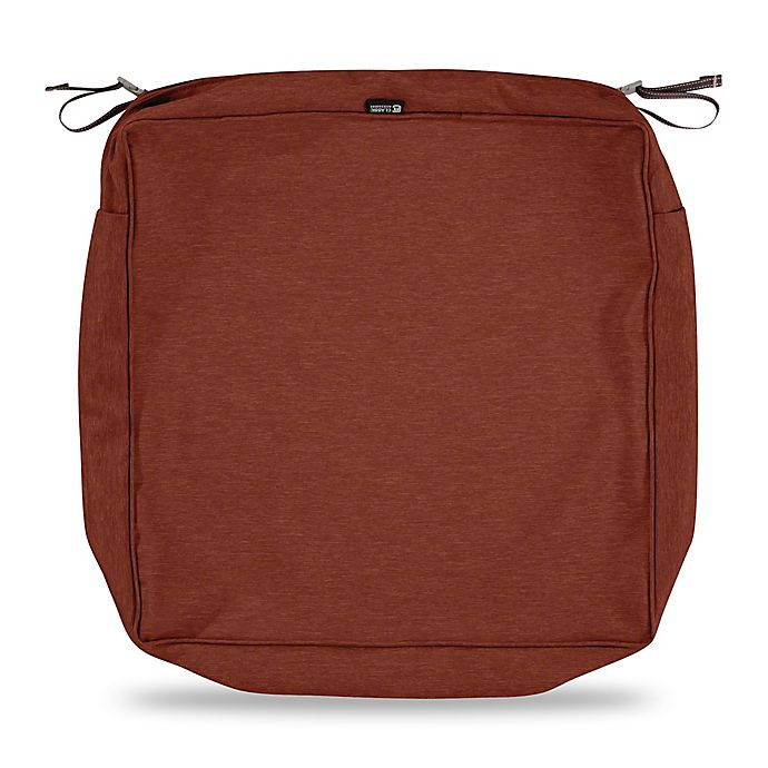 Alternate image 1 for Classic Accessories® Montlake™ FadeSafe 25-Inch Lounge Seat Cushion Slip Cover in Red