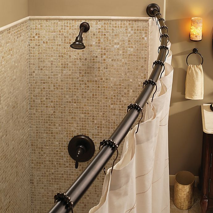 Bed Bath And Beyond Shower Rod moen® adjustable curved old world bronze shower rod | bed bath & beyond