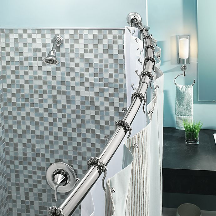 Bed Bath And Beyond Shower Rod moen® adjustable curved chrome shower rod | bed bath & beyond