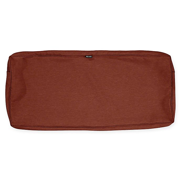Alternate image 1 for Classic Accessories® Montlake™ Bench/Settee Cushion Slip Cover in Heather Red