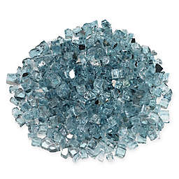 American Fireglass Azuria 10 lb. .5-Inch Reflective Fire Glass in Turquoise