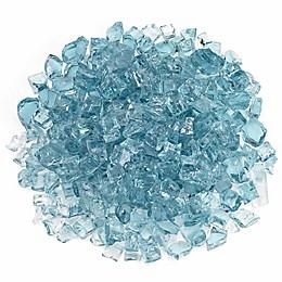 American Fireglass Azuria 10 lb. .5-Inch Fire Glass in Turquoise