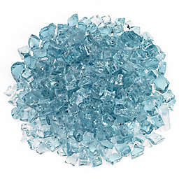American Fireglass Azuria 10 lb. .5-Inch Fire Glass in Turquoise