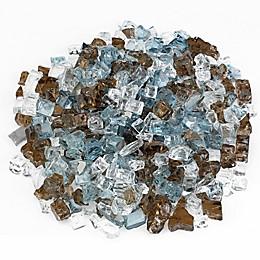 American Fireglass Bali 10 lb. .5-Inch Reflective Fire Glass in Brown/Blue