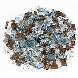 American Fireglass Bali 10 lb. .5-Inch Reflective Fire Glass in Brown/Blue