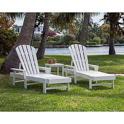 POLYWOOD® South Beach 3-Piece Outdoor Chaise Set in White