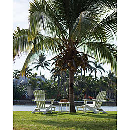POLYWOOD® South Beach Outdoor 3-Piece Ultimate Adirondack Set in White