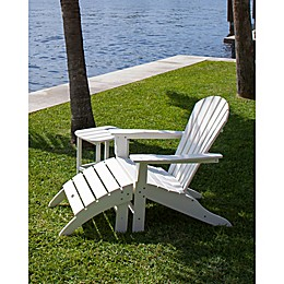 POLYWOOD® South Beach Adirondack Set in White