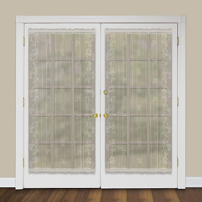 buy heritage lace sheer divine 40 inch rod pocket door panel in flax from bed bath beyond. Black Bedroom Furniture Sets. Home Design Ideas
