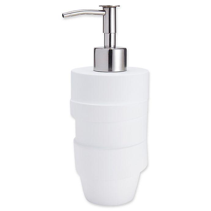 Alternate image 1 for Kassatex Alpine Lotion Dispenser in White