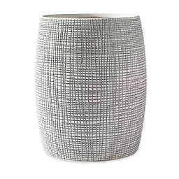 Kassatex Raffia Wastebasket in Grey