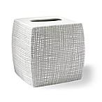 Kassatex Raffia Boutique Tissue Box Cover in Grey